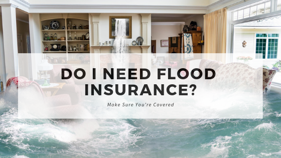 Photo of a home flooding -- need flood insurance in Michigan
