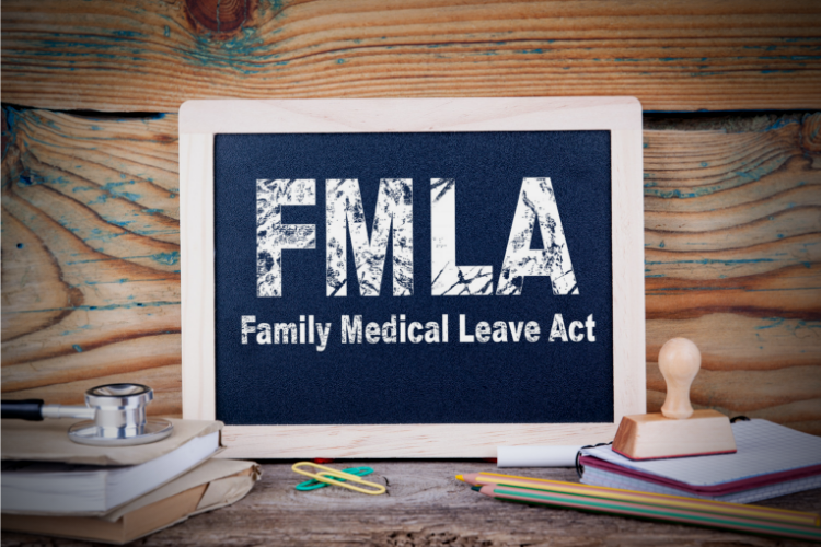 family medical leave act written on a chalkboard