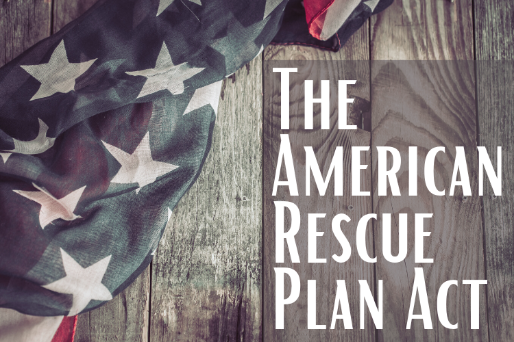 The American Rescue Plan Act photo of American flag