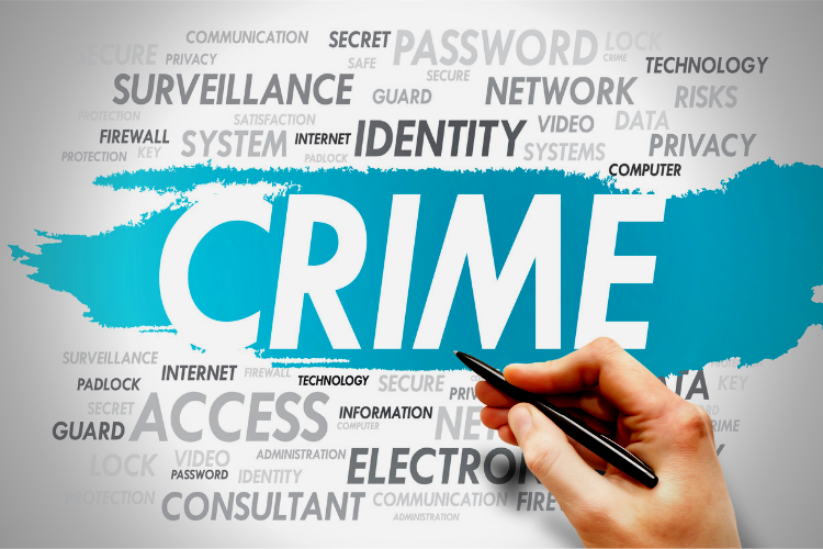 Commercial Crime Insurance. Graphic of the word crime.
